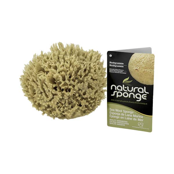 The Natural Brand - Wool Sea Sponge 4-5 Inch SW #1-4050C | Top w/ Label