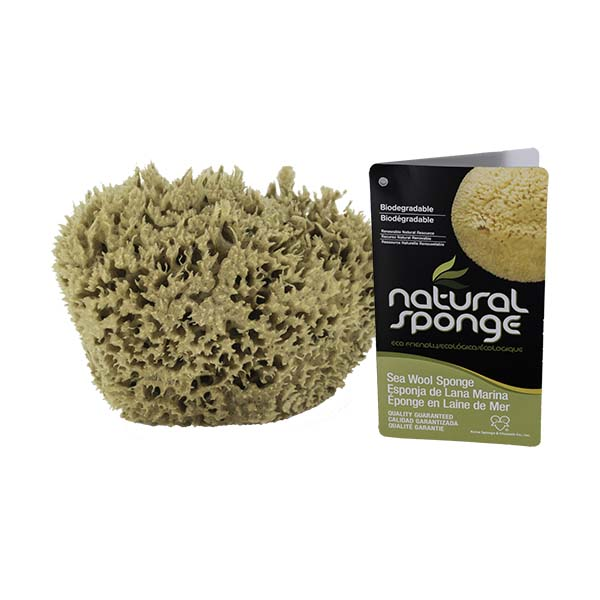 The Natural Brand - Wool Sea Sponge 5-6 Inch SW #1-5060C | Front with Label