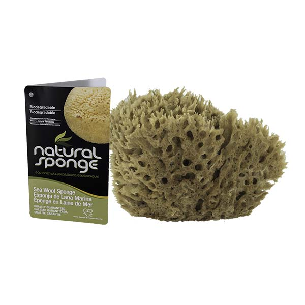 The Natural Brand - Wool Sea Sponge 5-6 Inch SW #1-5060C | Back with Label