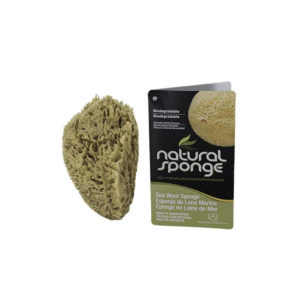 The Natural Brand - Wool Sea Sponge 5-6 Inch SW #1-5060C | Side with Label