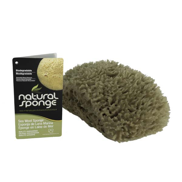 The Natural Brand - Wool Sea Sponge 6-7 Inch SW #1-7080C | Top with Label