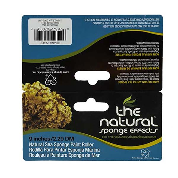 The Natural Sponge Effects Natural Sea Sponge Paint Roller 9 Inch Label Outside