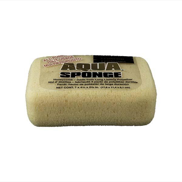 Aqua Sponge - HO2 | Large Economy Polyester Sponge - Front Side w/pkg