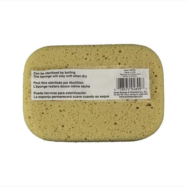 Aqua Sponge - AF2L | Professional Grade Utility Polyester Sponge - Back w/pkg