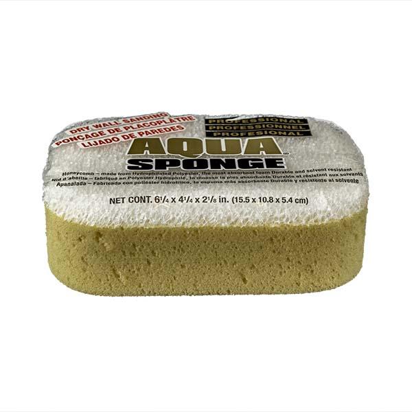 Aqua Sponge - AF2L-SS | Fine Pore Sanding Polyester Sponge - Front Side w/pkg