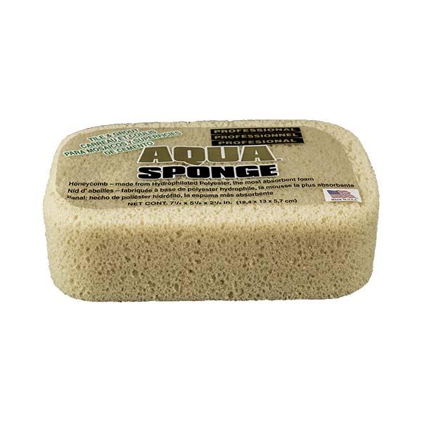 Aqua Sponge - AF2XL | Tile and Grout Polyester Sponge - Front Side w/pkg