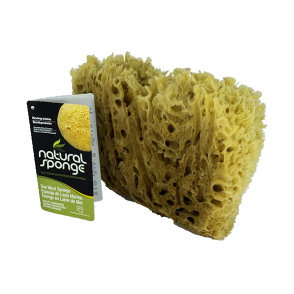 The Natural Brand - Wool Sea Sponge 5-6 Inch SW #1-1011C | Back with Label