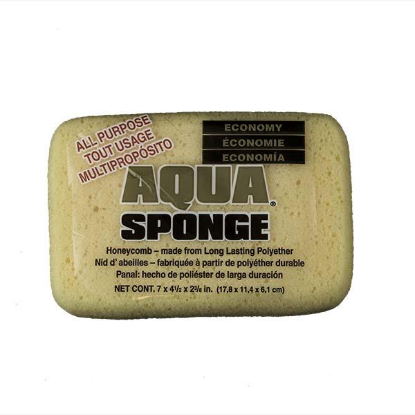 Aqua Sponge - HO2 | Large Economy Polyester Sponge - Front w/pkg