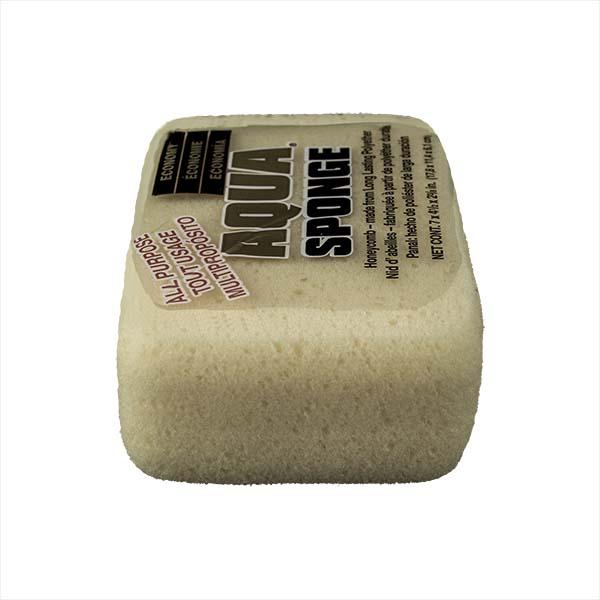 Aqua Sponge - HO2 | Large Economy Polyester Sponge - End Side w/pkg
