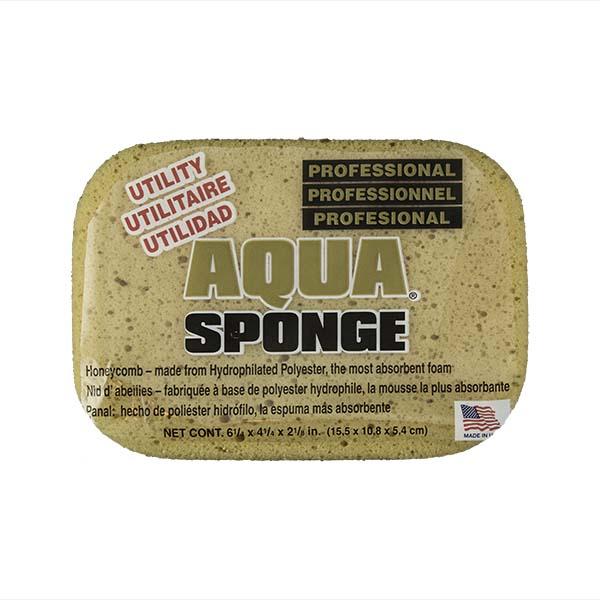 Aqua Sponge - AF2L | Professional Grade Utility Polyester Sponge - Front w/pkg