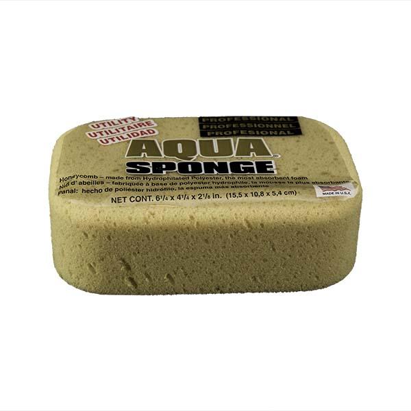 Aqua Sponge - AF2L | Professional Grade Utility Polyester Sponge - Front Side w/pkg