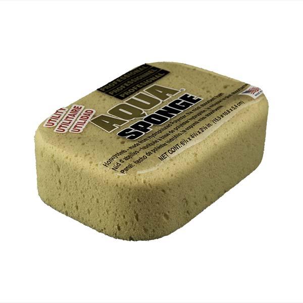 Aqua Sponge - AF2L | Professional Grade Utility Polyester Sponge - Top Side w/pkg