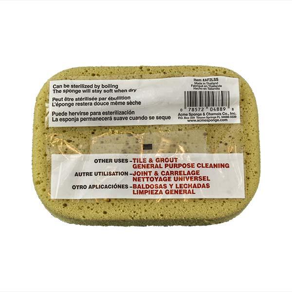 Aqua Sponge - AF2L-SS | Fine Pore Sanding Polyester Sponge - Back w/pkg