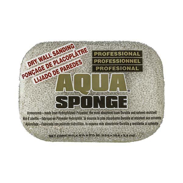 Aqua Sponge - AF2L-SS | Fine Pore Sanding Polyester Sponge - Front w/pkg