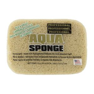 Aqua Sponge - AF2XL | Tile and Grout Polyester Sponge - Front w/ pkg