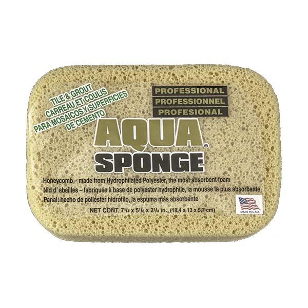 Aqua Sponge - AF2XL | Tile and Grout Polyester Sponge - Front w/ pkg 2