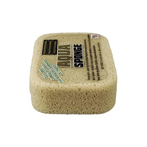 Aqua Sponge - AF2XL | Tile and Grout Polyester Sponge - End Side w/pkg